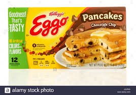 winneconne wi 22 april 2017 box of eggo pancakes in chocolate chip flavor on an isolated background