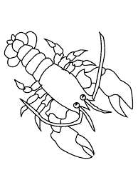 Animal drawings :Coloring picture of lobster ~ Child Coloring