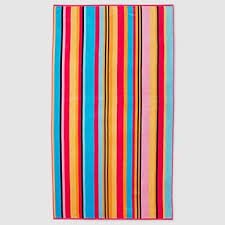 awesome beach towels. Bright Striped Turkish Cotton Beach Towel - Awesome Towels