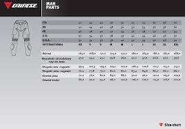 Symbolic Dainese Jacket Size Chart 2019