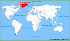 greenland location on the world map