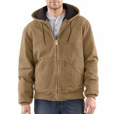 Carhartt Sandstone Duck Quilted Flannel Lined Active Jacket J130 & Carhartt Sandstone Duck Quilted Flannel Lined Active Jacket. Frontier Brown Adamdwight.com