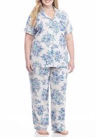 plus size short sets karen neuburger plus size short sleeve girlfriend pajama set floral
