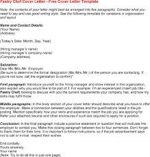 Pastry Chef Cover Letter Example For Resume Pastry Covers Www