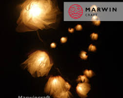 20 White Carnation String Lights Flower Fairy Lights Bedroom Home Decor  Living Room Wall Hanging Lights