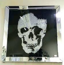 skull wall art napasarsorg skull wall art metal wall art with crystals awesome crystal skull wall