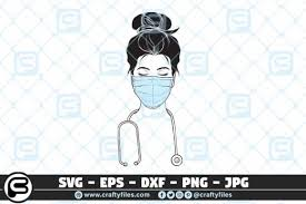 So if, for instance, you want to link or download a clip art or gif, simply follow the links to the different categories or use the search function at the top of the screen. Nurse With Medical Mask Graphic By Crafty Files Creative Fabrica