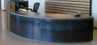 commercial reception desk zoom in