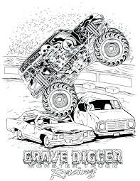 Pages A Colorier Monster Trucks Monster Truck Color Page Monster