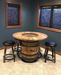 whiskey barrel bar table jack pub diy