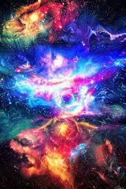 Galaxy Design Colorful Galaxy Art Design Works Canvas Artwork