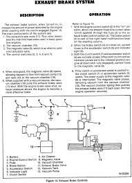 npr exhaust brake problems these pics from a workshop manual might help