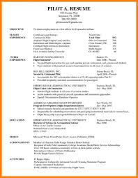 Sample Airline Pilot Resume 100 Pilot Resumes Examples Mla Cover Page Job Airline Resume For A Of 46