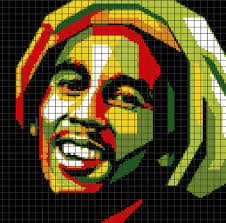 Bob Marley Chart Graph And Row By Row Written Instructions 03