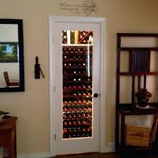 my entryway closet wine cellar replace door with glass and add storage rack lighting ideas small