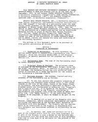 Partnership Agreement Of Wlh Enterprises