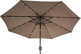 solar led patio umbrella com trademark innovations 7 ft led 425 283