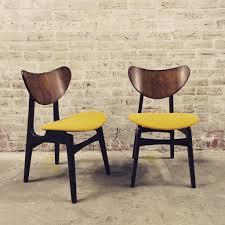 gplan erfly dining chair upholstered using mustard yellow harris tweed