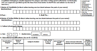 Biodata Form For Common Interview Conducted By Ibps Ibps Exam