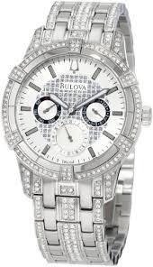 amazon com bulova men s 96c109 crystal multi function watch amazon com bulova men s 96c109 crystal multi function watch bulova watches