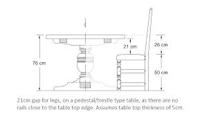 Table Top Size Chart Dining Room Table Sizes Jobbahemma Website