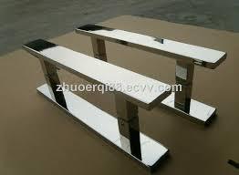 sliding stainless steel tempered glass door handle