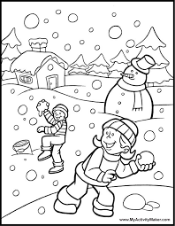 Winter Printable Worksheets | 42 Winter Coloring Pages ...