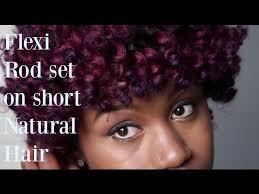 flexi rod set on short hair twa