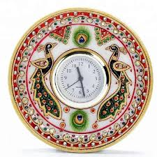 handmade craft frame marble wall clock