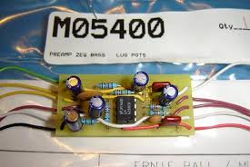 pre amps and pups musicmanbass org music man musicman music an ernie ball replacement pre amp for pre eb and ernie ball sting rays up to circa 1990 there after the board changes to a crescent moon shape