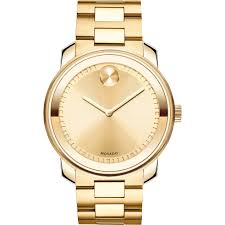 movado bold gold plated stainless mens watch 3600258 main image
