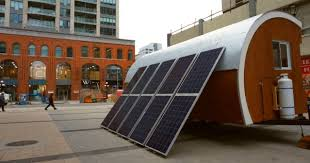 Small Picture Solar Powered Pod as Prototype for Tiny House Mobile Office