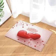 door mat bathroom rug bedroom carpet bath mats rug non slip two love heart