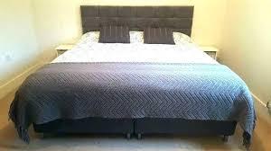 Slatted Headboard Bed Super King Size Base Mattress Frame White