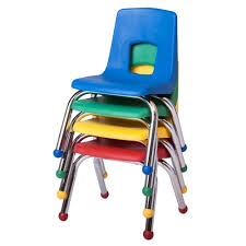 FZA 1012B Fuerza Preschool Chair with Chrome Legs 12 Seat Height