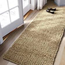 woven runner rug solid natural target cotton rugs