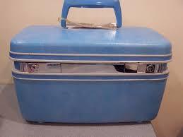 vine retro 60 39 s samsonite silhouette blue hard makeup train case luge