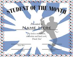 Student Of The Month Certificates Student Of The Month Martial Arts Certificate