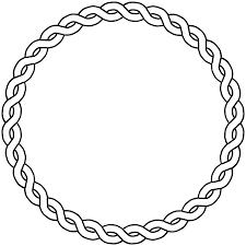 Rope Border Circle Dna Black