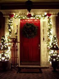 Exterior Door Decorating Furniture Accessories The Most Wonderful Front Door Christmas