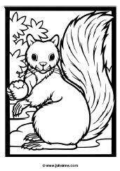 Kleurplaat Eekhoorn Juf Sanne 3squirrels3 Thanksgiving