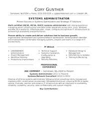 Sample Resume For Experienced System Administrator Best of System Administrator Resume Samples Mycola