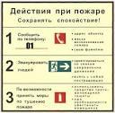 инструкция действия при пожаре