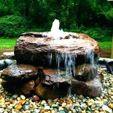 water feature with rocks diy fountain wall