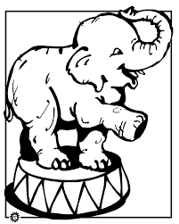 Small Picture Elephant coloring page Animals Town animals color sheet