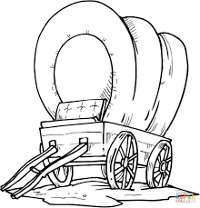 western coloring pages. Simple Pages Wood Covered Wagon And Western Coloring Pages Supercoloringcom