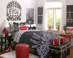 bedroom bedroom ideas red black and white gray fur rug minimalist silk flat sheets wooden