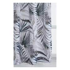 <b>Портьера VERRAN Palm</b> 140х260 см, синий, серый — купить в ...