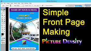 School Cover Page Design School Front Page Design Making School Front Page Psd
