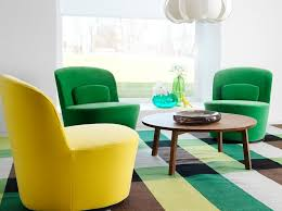 stylish furniture for living room. Chair Stylish Colorful Swiwel For Modern Living Room With Round Shape Wooden Coffee Table On Furniture